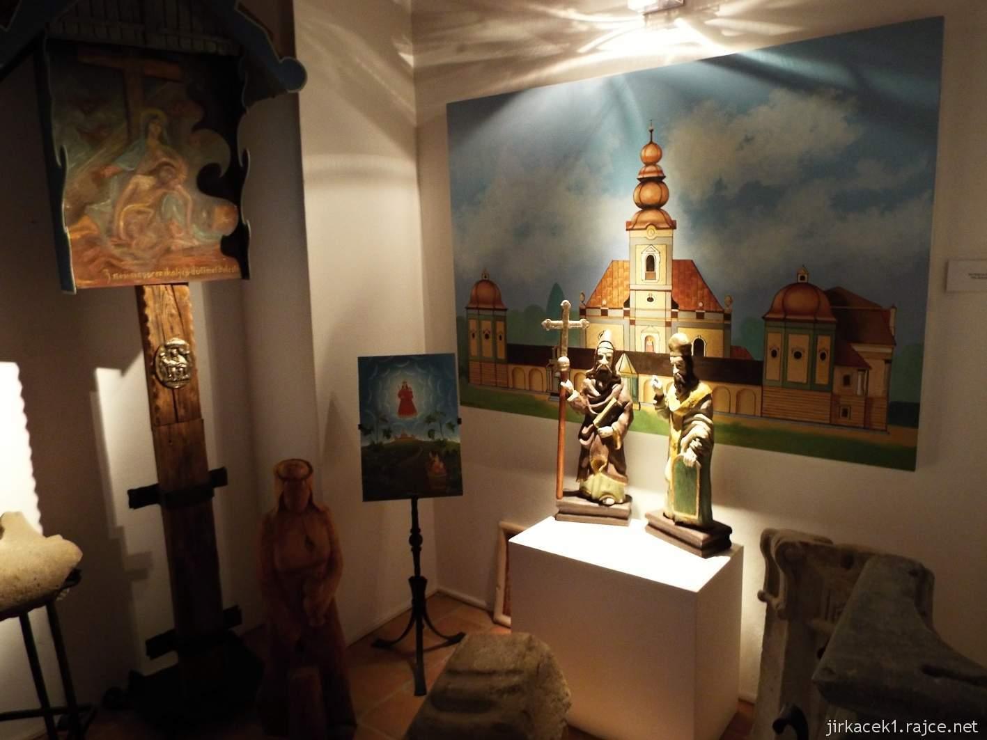 Žarošice - muzeum - expozice původního kostela Staré Matky Boží a rezidence na Silničné