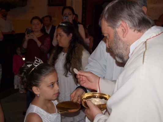 63 první svaté přijímání v kostele sv. Jiljí v Jirkově proběhlo v neděli 16.6.2019