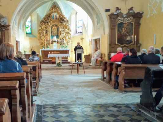 56 Ekumenická bohoslužba z farnosti Marienberg a Olbernhau na Květnově o neděli 19.5.2019.