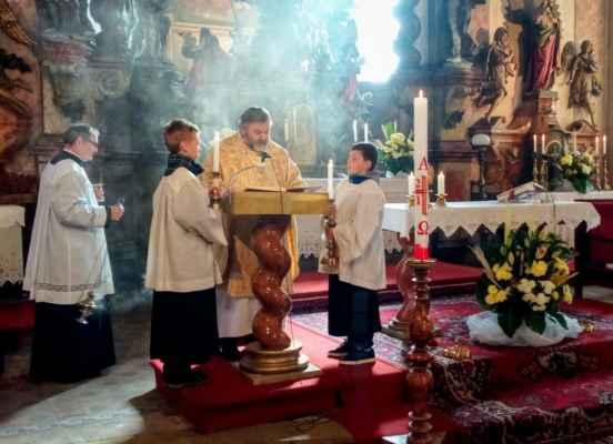 35 mše na hod boží velikonoční u sv. Jiljí v Jirkově