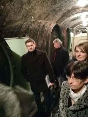 Exkurze zástupců MOV do Ostrožských sklepení