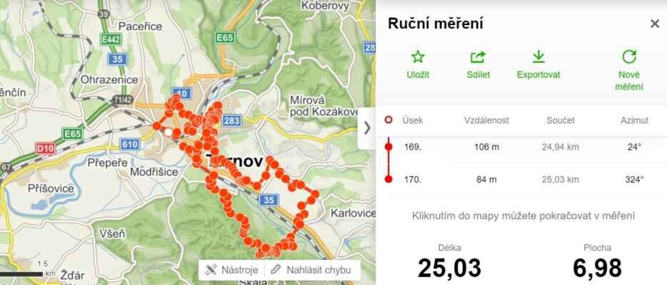 20.5.2021  Turnov - Sedmohorky - Slalák , pěšky - https://mapy.cz/s/nuzegosule