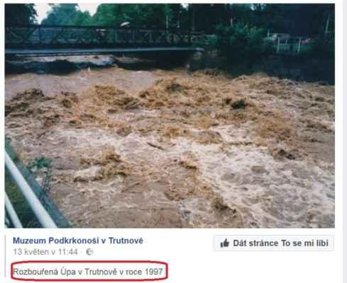 historie před lety téměř dvacetipěti.... - ještě mám v paměti dřívější stav, kdy se voda lehce přelévala přes most, fotku ale žel nemám