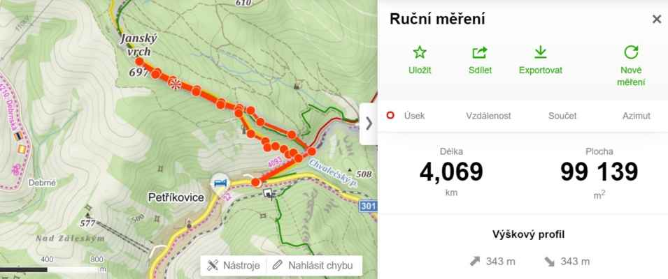 15.5.2021 Z Petříkovic na Jánský vrch - https://mapy.cz/s/merojurole