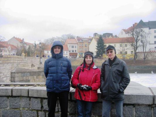 Edit kaj Tamás Slezák el Mosonmagyarovár (Hungario) - unu el geamikoj, kun kiuj ni regule persone renkontiĝadas (el vizito en Písek en 2006) - Edit a Tamás Slezákovi z Mosonmagyarováru (Maďarsko) - jedni s e zahraničních přátel, s nimiž se pravidelně osobně setkáváme (z návštěvy v Písku v r. 2006)