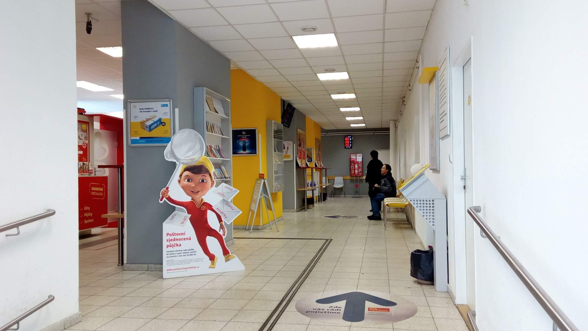 Pošta v Blansku asi pět minut chůze od autobusového nádraží. Foto: Ladislav Zouhar.