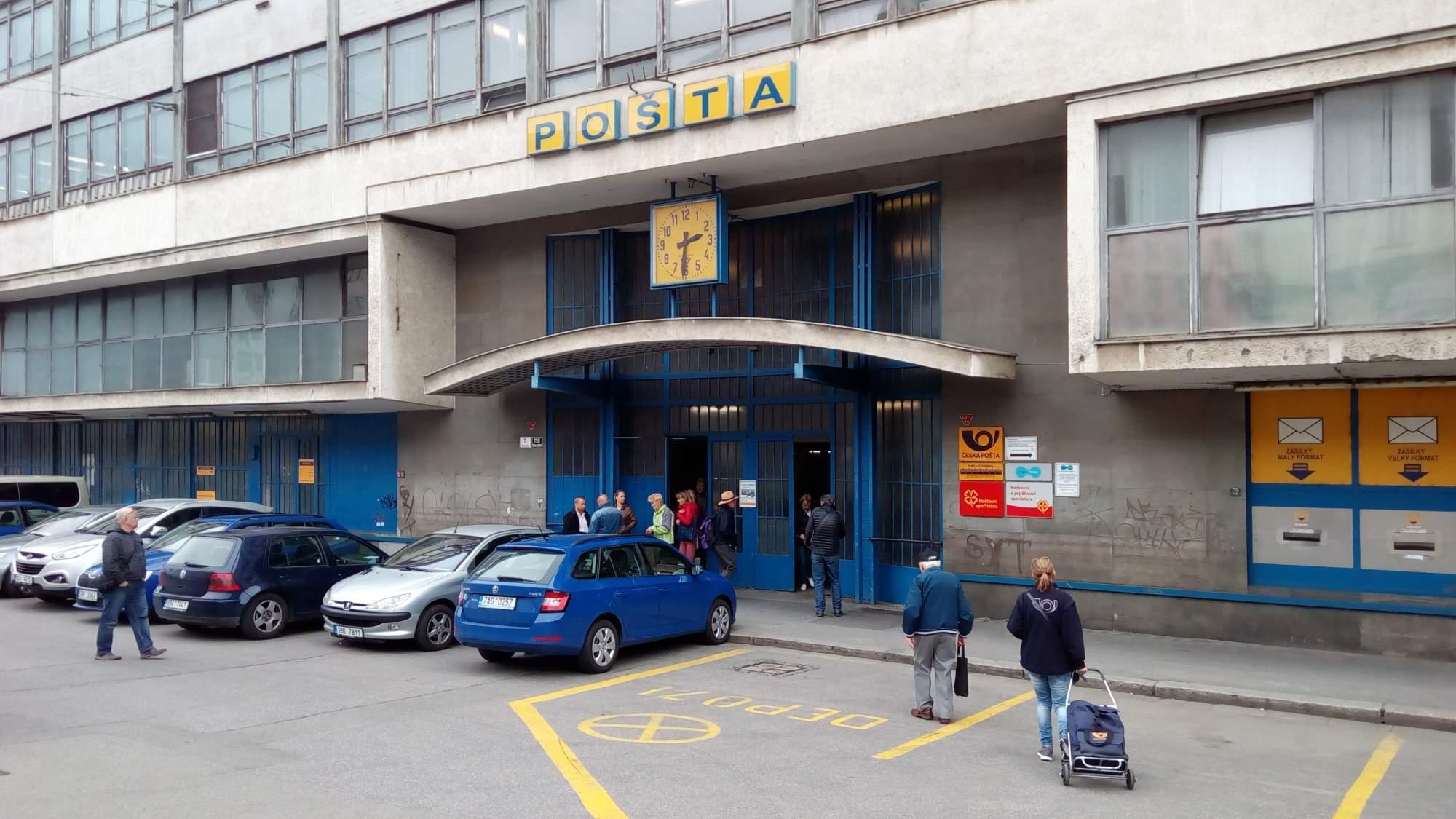 Pošta u brněnského nádraží. Foto:Ladislav Zouhar.
