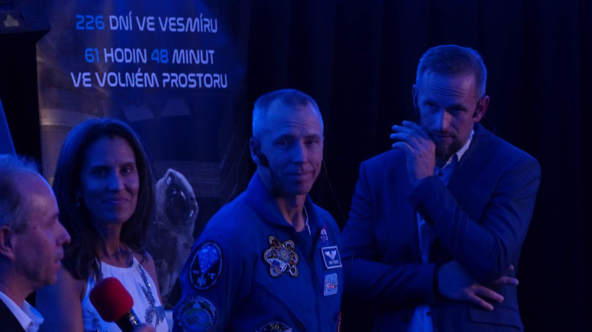 Andrew Feustel na přednášce v brněnském planetáriu. Foto: Ladislav Zouhar.