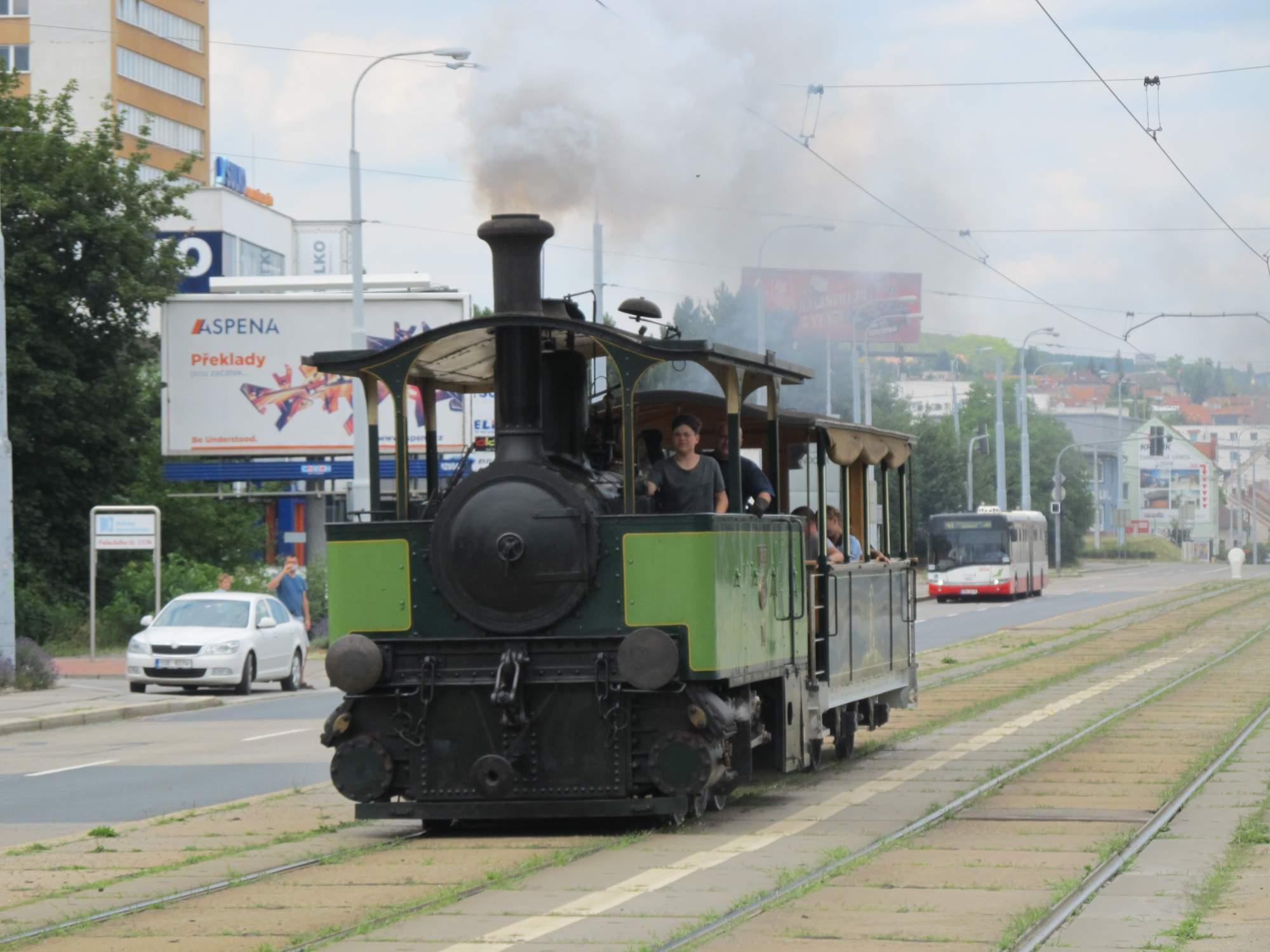 Parní tramvaj Karolínka. Autor: Archiv Technického muzea Brno