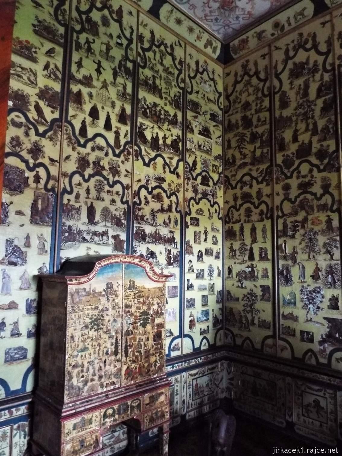 zámek Milotice 32 - interiéry - Kabinet hraběnky (též čínský kabinet)