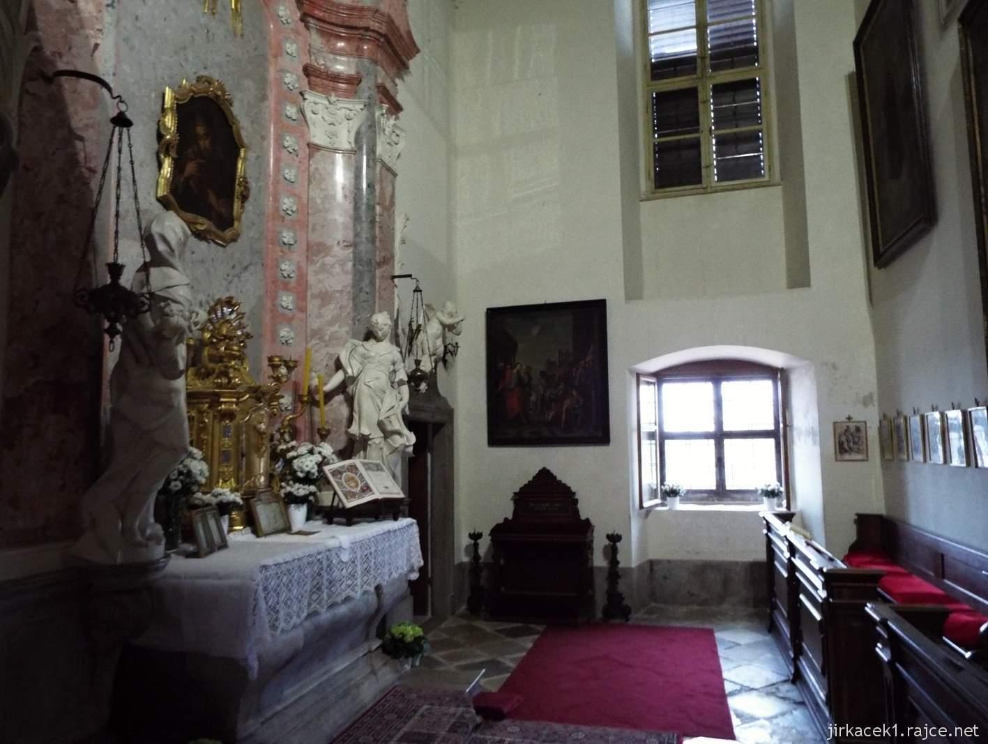 zámek Milotice 62 - interiéry - Kaple Panny Marie a sv. Jana Nepomuckého