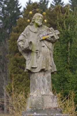 sv. jan nepomucký z polevska pochází z roku 1838. stojí nedaleko místa, kde se při autonehodě 8. 3. 1990 smrtelně zranil populární dětský herec tomáš holý...