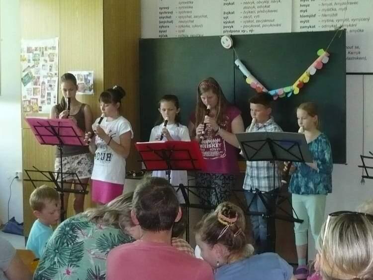 Závěrečný koncert kroužku hry na flétnu