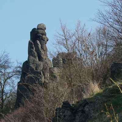 čedičová skalní věž - učitel...