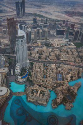 Pohled z Burj Khalifa