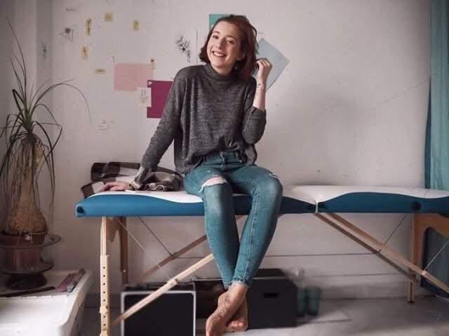 Anna Truksová ve svém tetovacím salonu. Foto: Vendula Kocandová
