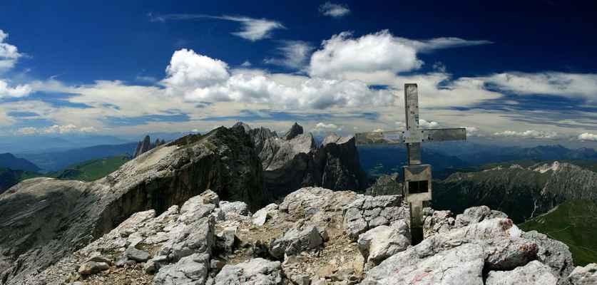 ...na vrcholu Puezspitze (2913 m.n.m.)...