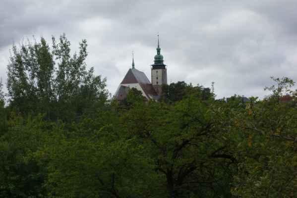 Výhled na centrum Jihlavy.