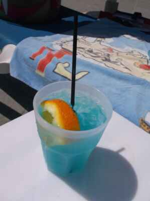 In the blue drink