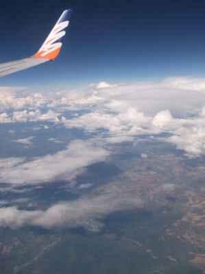 Pohled z okýnka letadla